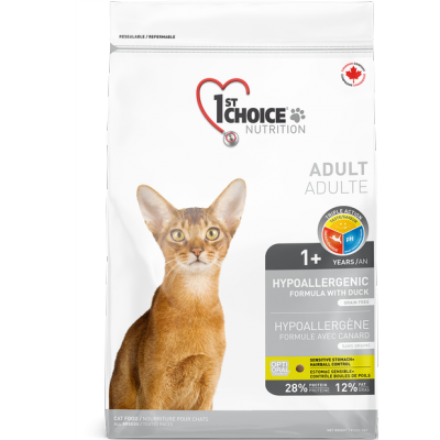 1st Choice -  Nourriture pour chat adulte - Formule Canard 2,72 kg