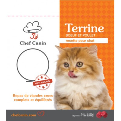 Chef Canin - Nourriture crue pour chat 4 lbs