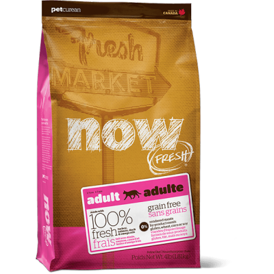 Petcurean - Now Fresh - Nourriture pour chat adulte Formule SANS GRAINS Dinde, Saumon et Canard 3.63 kg